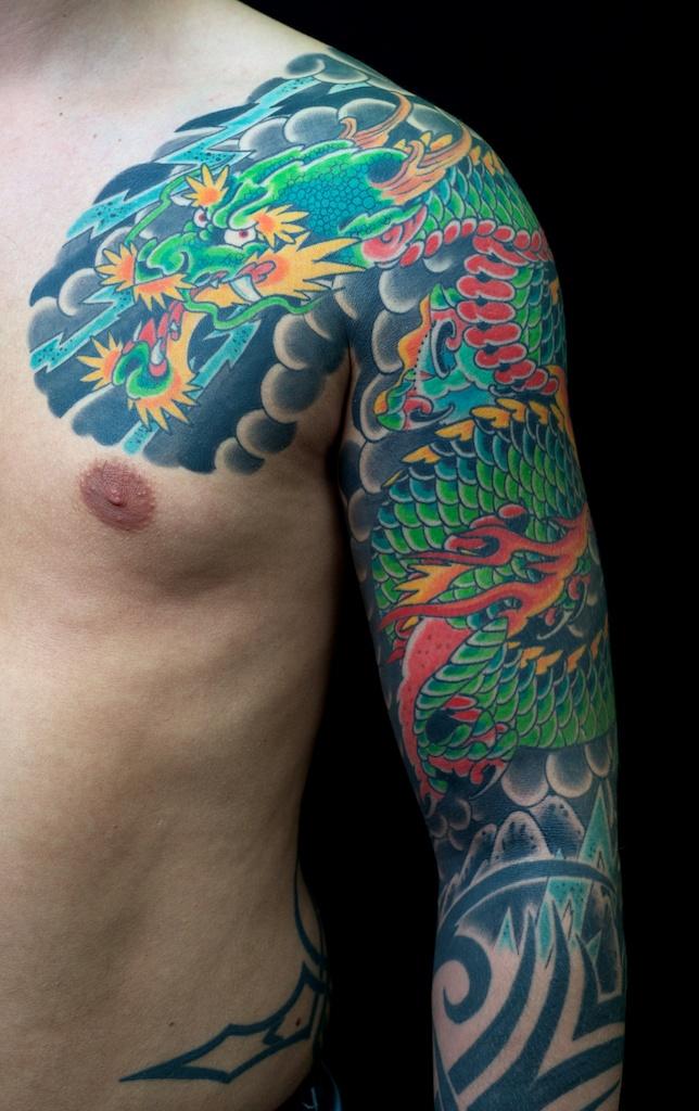 japanische tattoos dragon tattoo. Black Bedroom Furniture Sets. Home Design Ideas