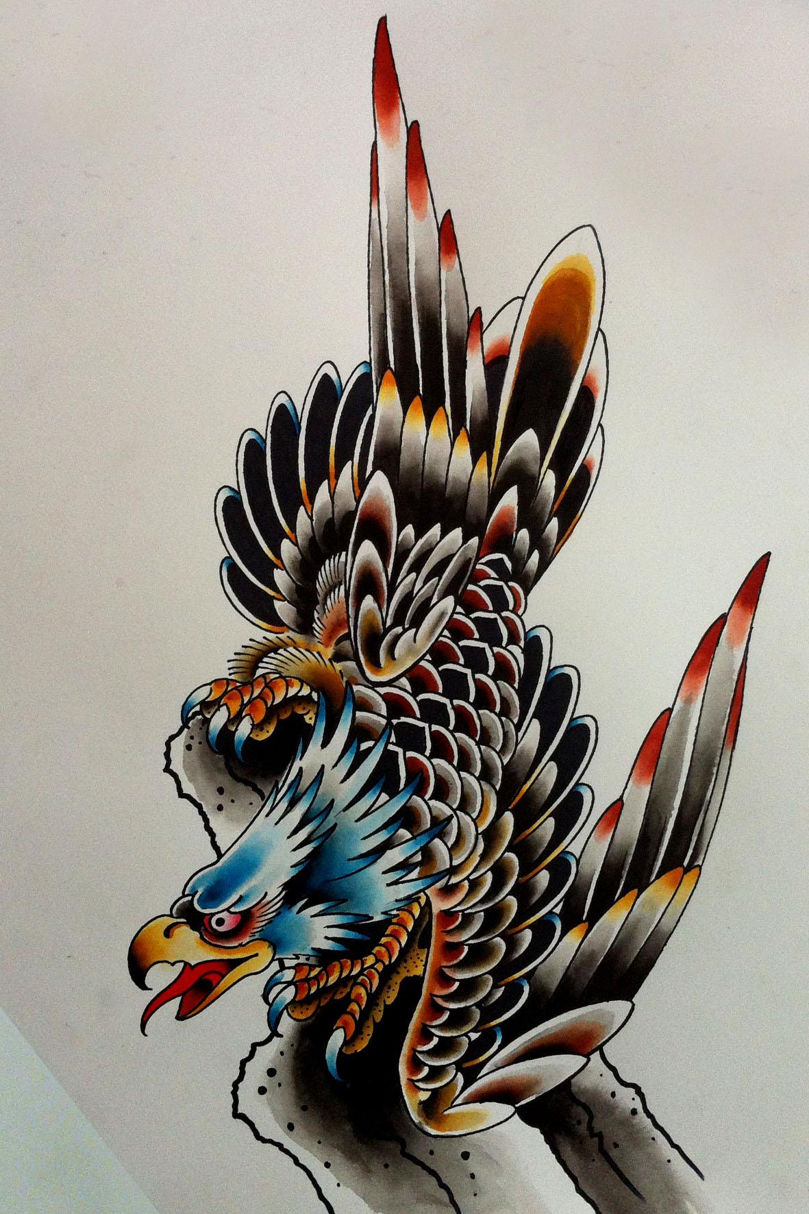 neo traditional dragon tattoo. Black Bedroom Furniture Sets. Home Design Ideas